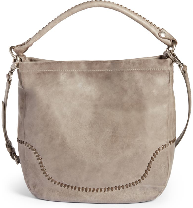 FRYE Melissa Whipstitch Leather Hobo, Main, color, 020