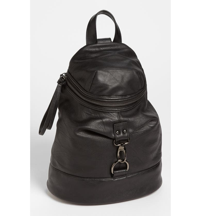 POVERTY FLATS BY RIAN Faux Leather Backpack, Main, color, 001