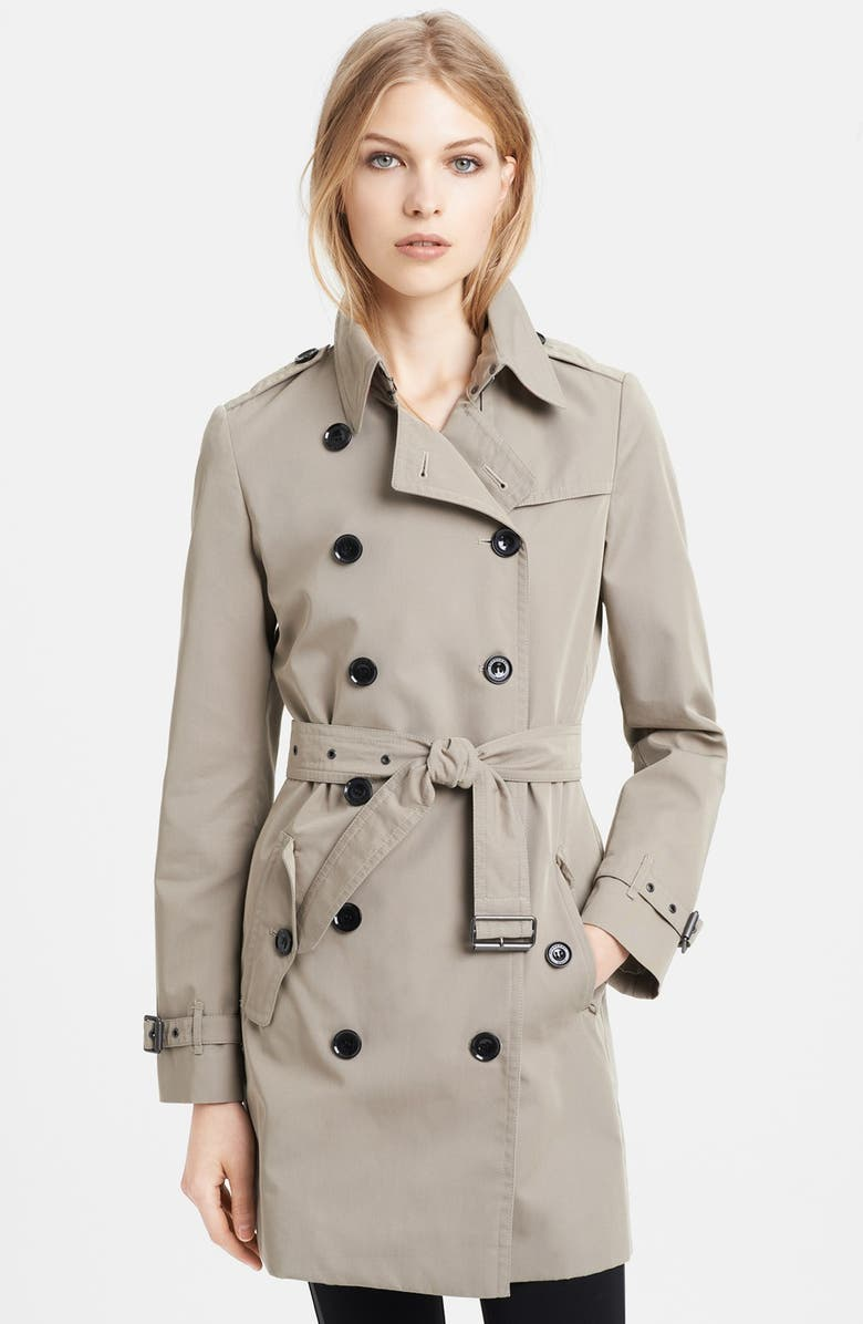 BURBERRY BRIT 'Havenby' Double Breasted Trench Coat, Main, color, 255
