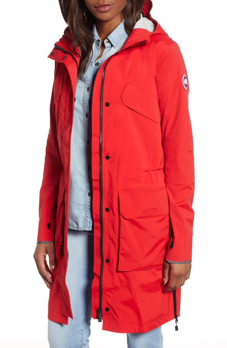 CANADA GOOSE Seaboard Packable Water Repellent Hooded Jacket, Main, color, RED