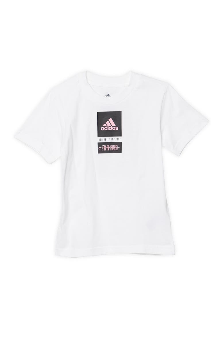 ADIDAS ORIGINALS Adidas x Toy Story I'm In Charge Graphic Tee, Main, color, WHITE
