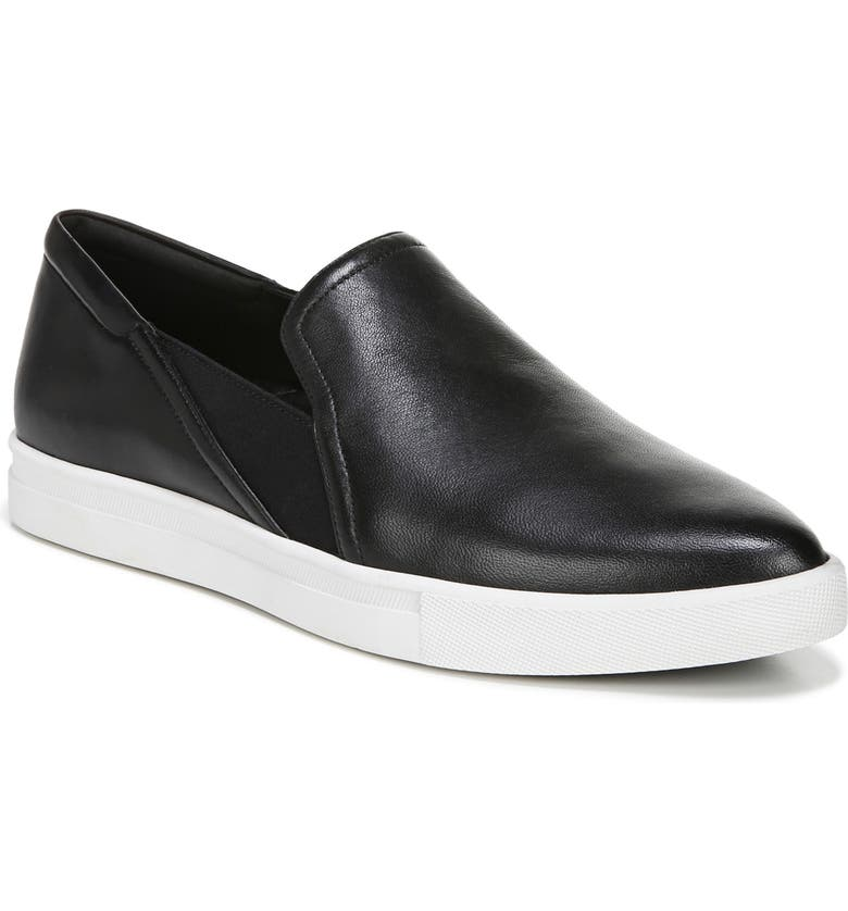 27 EDIT Tyra Slip-On Sneaker, Main, color, BLACK LEATHER