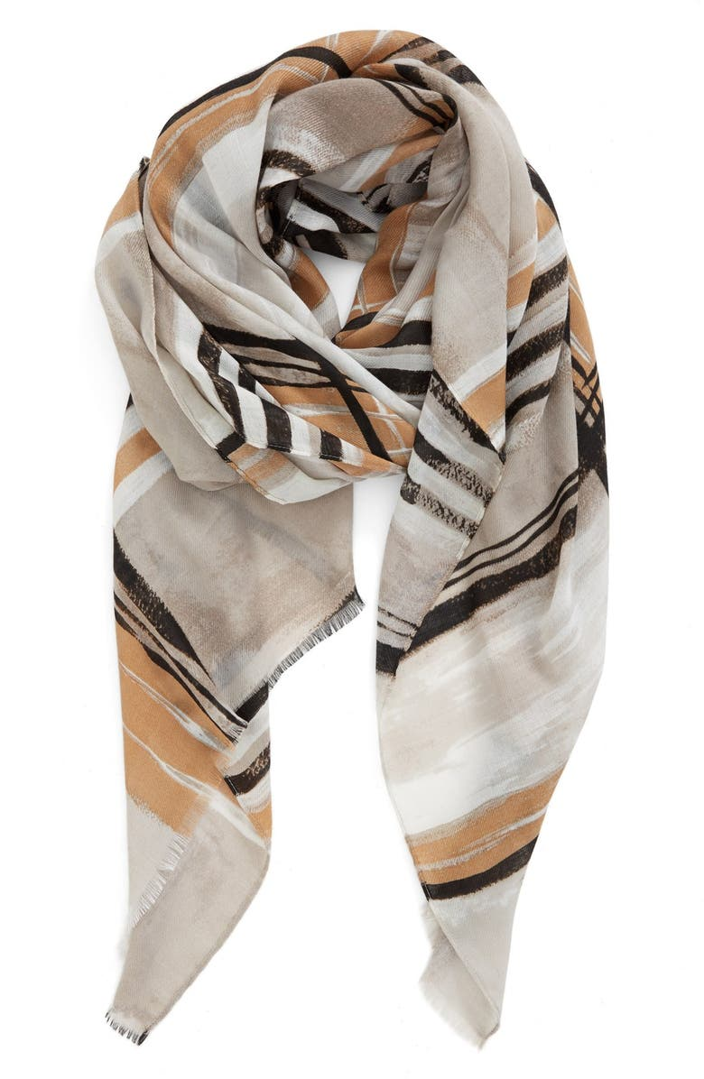 NORDSTROM Plaid Scarf, Main, color, 030