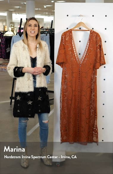 Lace Cover-Up Maxi Dress, sales video thumbnail