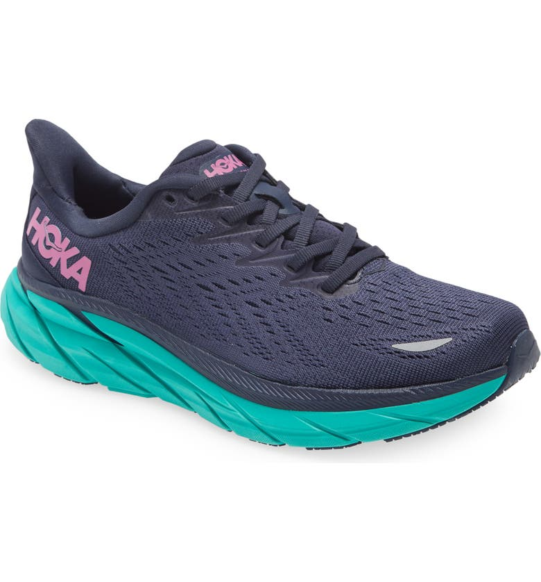 HOKA ONE ONE Clifton 8 Running Shoe, Main, color, OUTERSPACE/ ATLANTIS