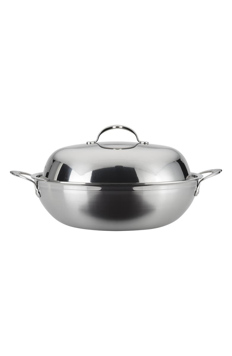 HESTAN ProBond 14-Inch Wok with Lid, Main, color, STAINLESS STEEL