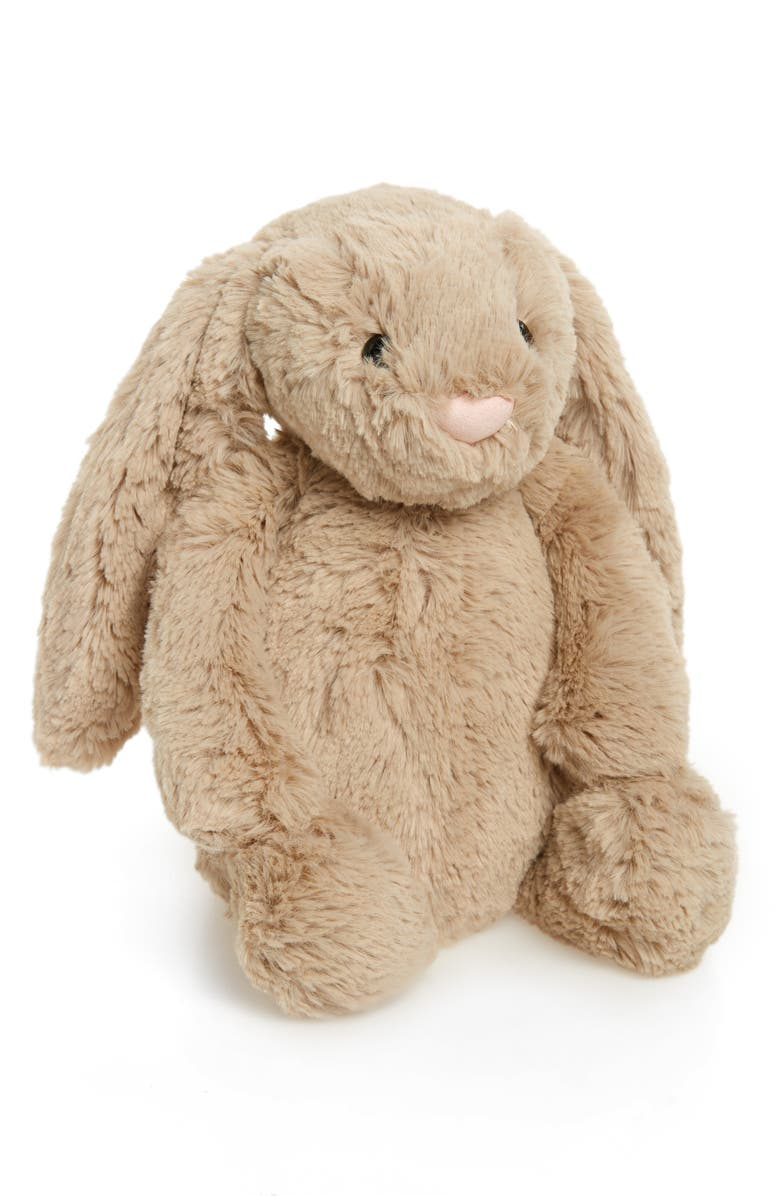 JELLYCAT Bashful Bunny Stuffed Animal, Main, color, Medium Beige