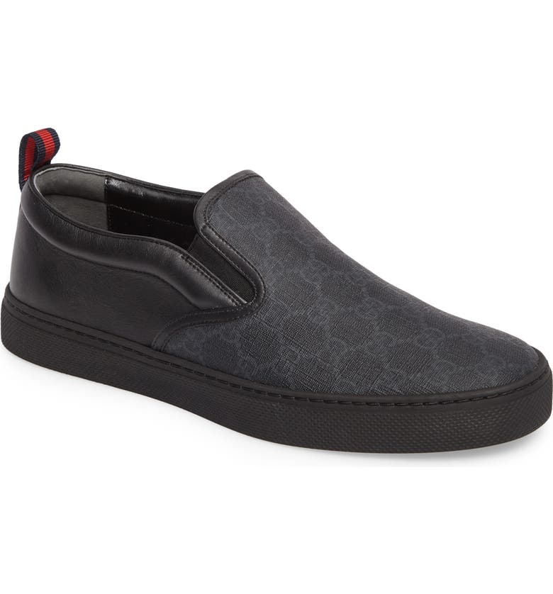 GUCCI Slip-On, Main, color, BLACK GG SUPREME