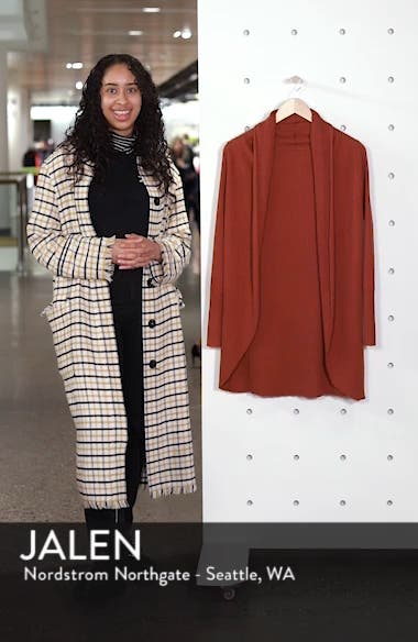 Ribbed Shawl Cocoon Sweater, sales video thumbnail