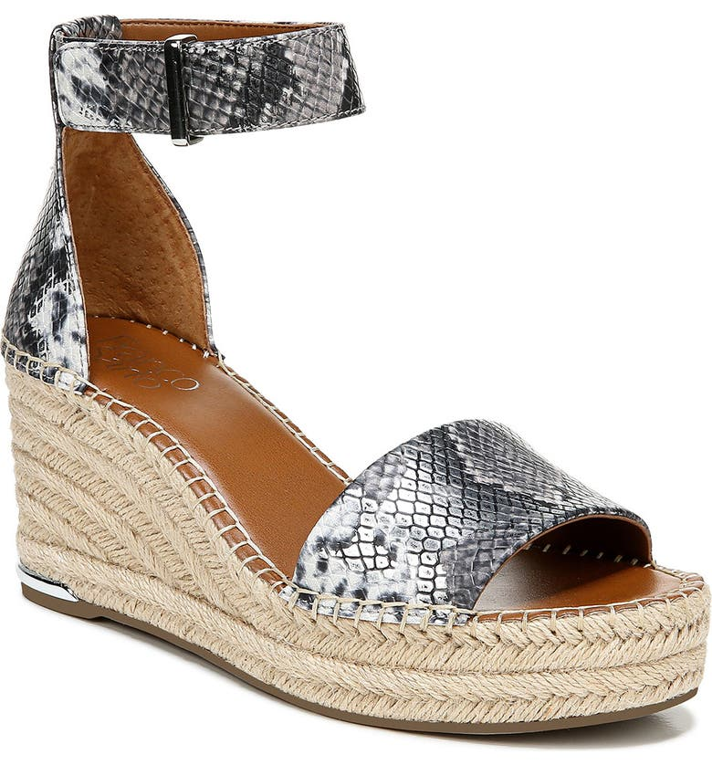 FRANCO SARTO Clemens Espadrille Wedge Sandal, Main, color, 040