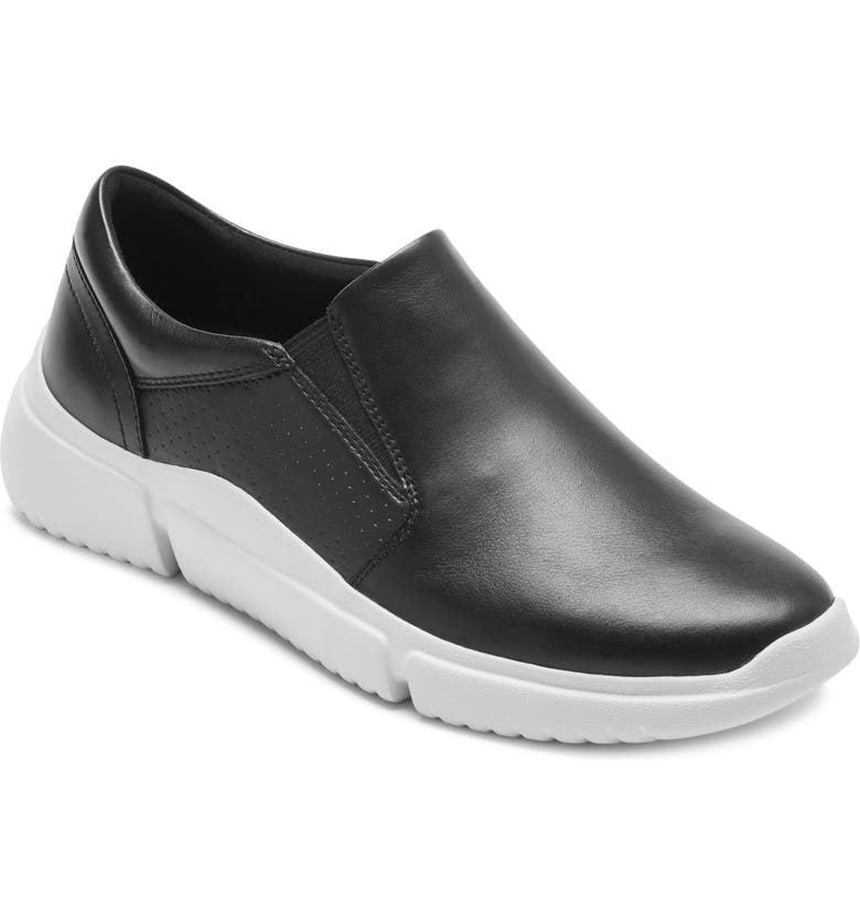 ROCKPORT City Lites Slip-On Sneaker, Main, color, BLACK LEATHER