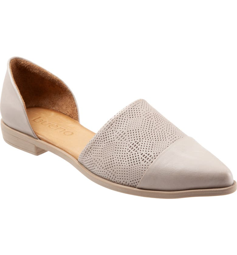 BUENO Bella d'Orsay Flat, Main, color, LIGHT GREY LEATHER