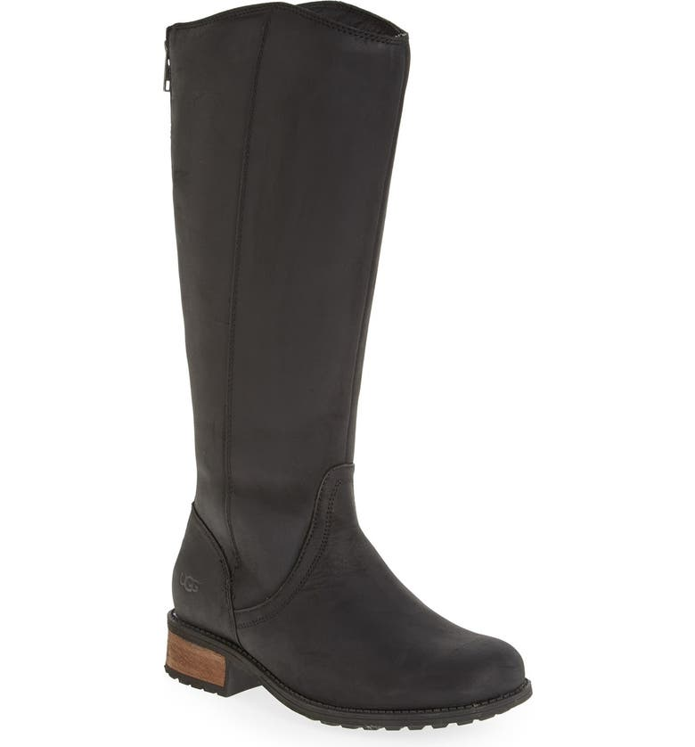 UGG<SUP>®</SUP> Australia 'Seldon' Water Resistant Boot, Main, color, BLACK LEATHER