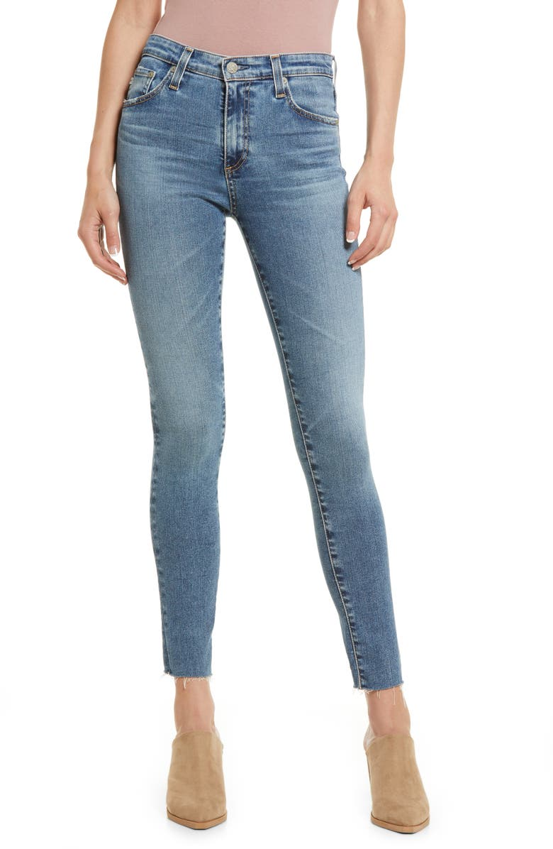 AG The Farrah High Waist Ankle Skinny Jeans, Main, color, 16 YEARS ELEMENT