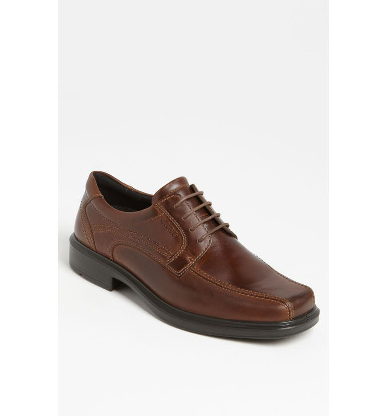 ECCO 'Helsinki' Square Bike Toe Oxford, Main, color, COCOA BROWN