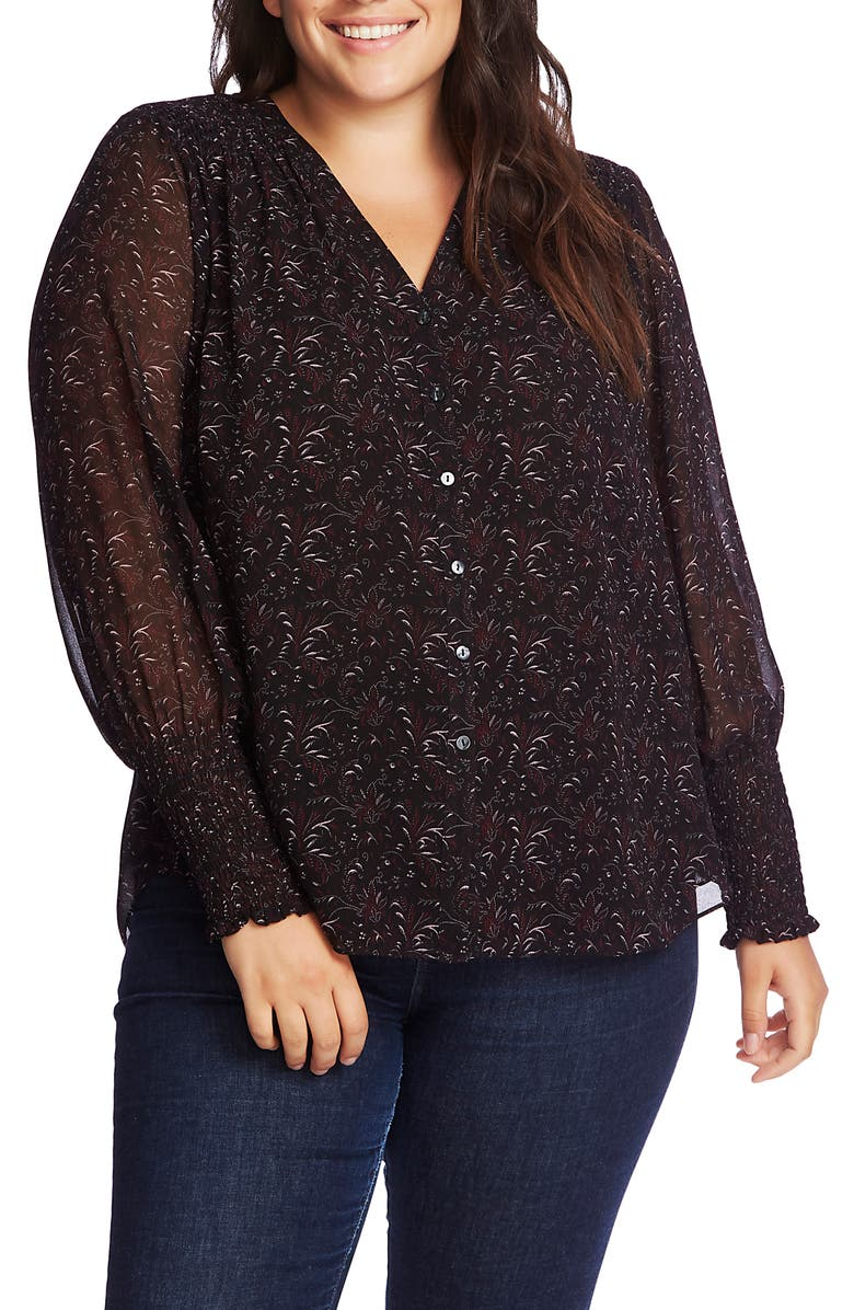 1.STATE Print Button-Up Blouse, Main, color, 009