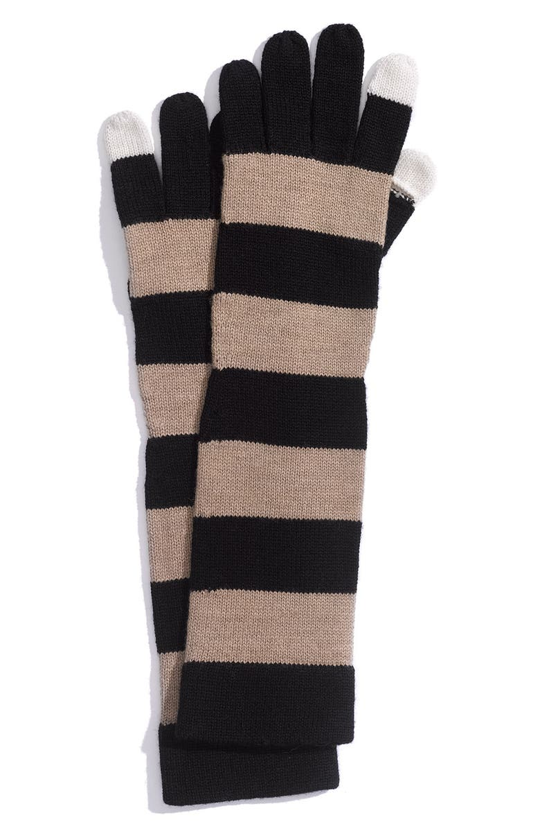 MARC BY MARC JACOBS 'Balloon Miss Marc' Gloves, Main, color, SEPIA MELANGE MULTI