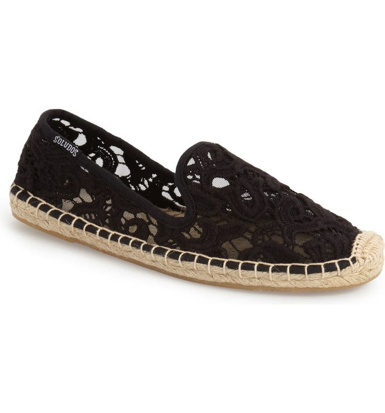 SOLUDOS Lace Espadrille Slip-On, Main, color, 001