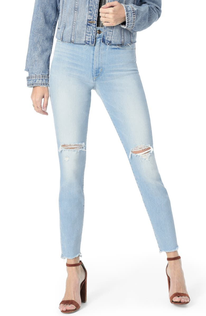JOE'S Icon Ripped Ankle Skinny Jeans, Main, color, DENICE