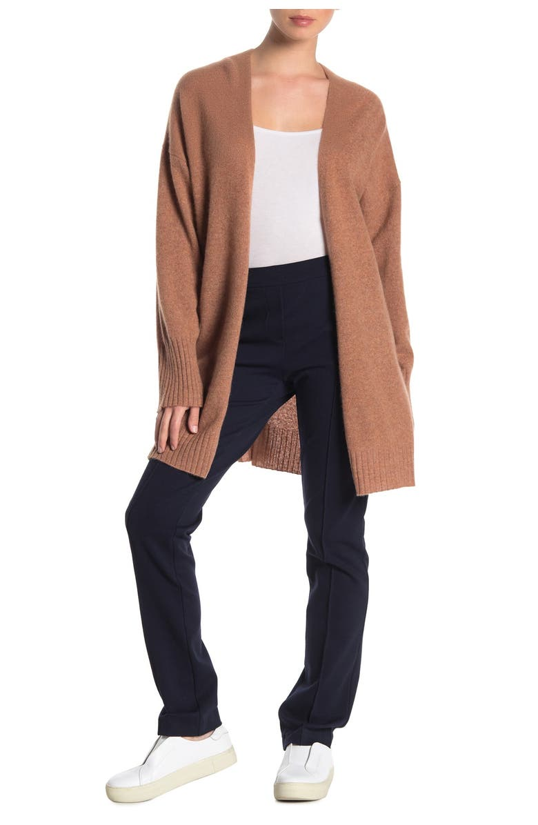 360 CASHMERE Ariana Open Front Cashmere Cardigan, Main, color, TOFFEE