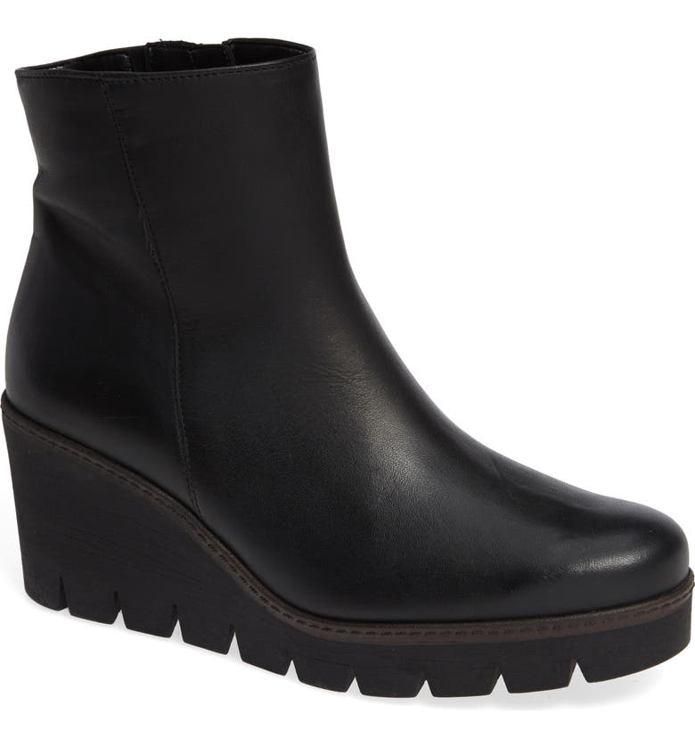 GABOR Friendly Wedge Bootie, Main, color, 001