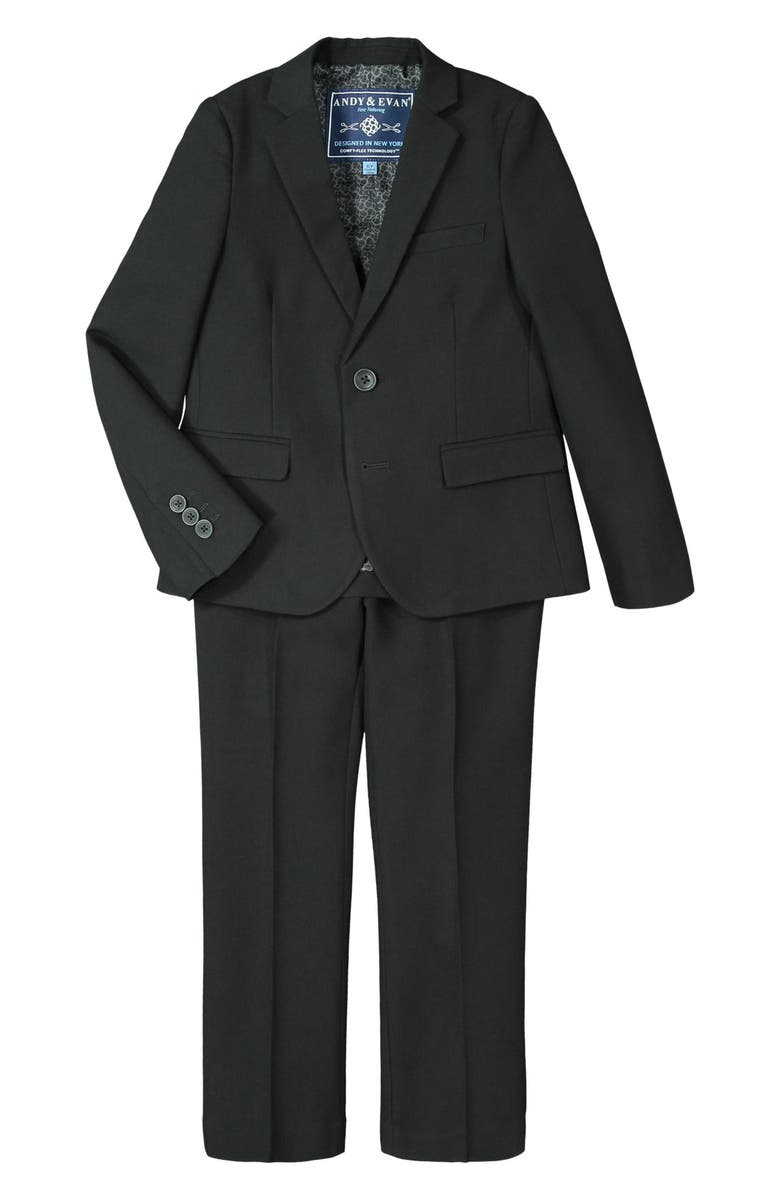 ANDY & EVAN Solid Stretch Two-Piece Suit, Main, color, OXFORD