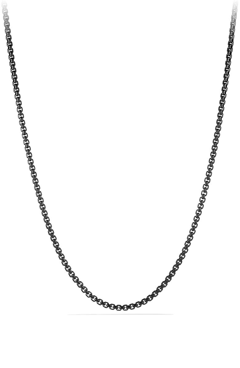 DAVID YURMAN Chain Box Chain Necklace, Main, color, STAINLESS STEEL