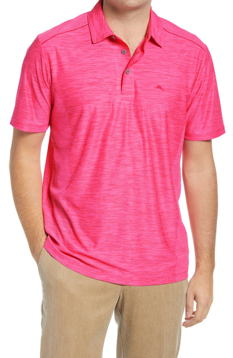 TOMMY BAHAMA Palm Coast Classic Fit Polo, Main, color, ELECTRIC CORAL