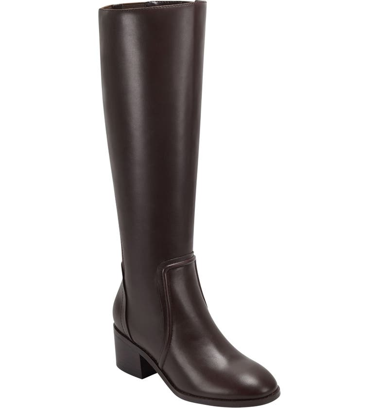 EVOLVE Tallie Knee High Boot, Main, color, DARK BROWN LEATHER