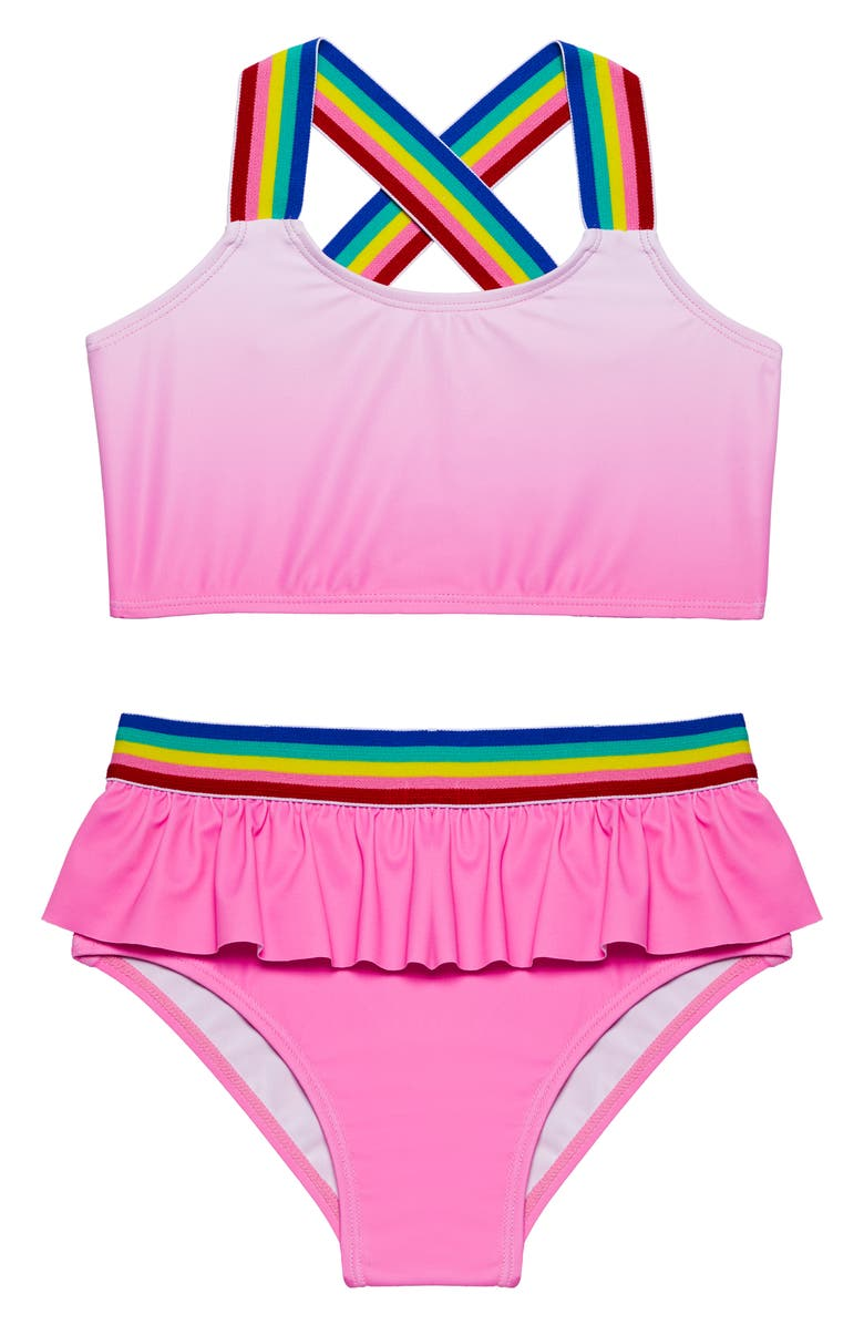 ANDY & EVAN Ombré Two-Piece Swimsuit, Main, color, 670