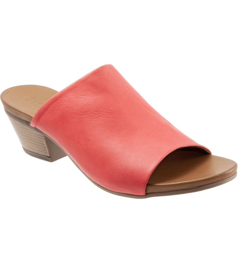 BUENO Simone Slide Sandal, Main, color, RED LEATHER