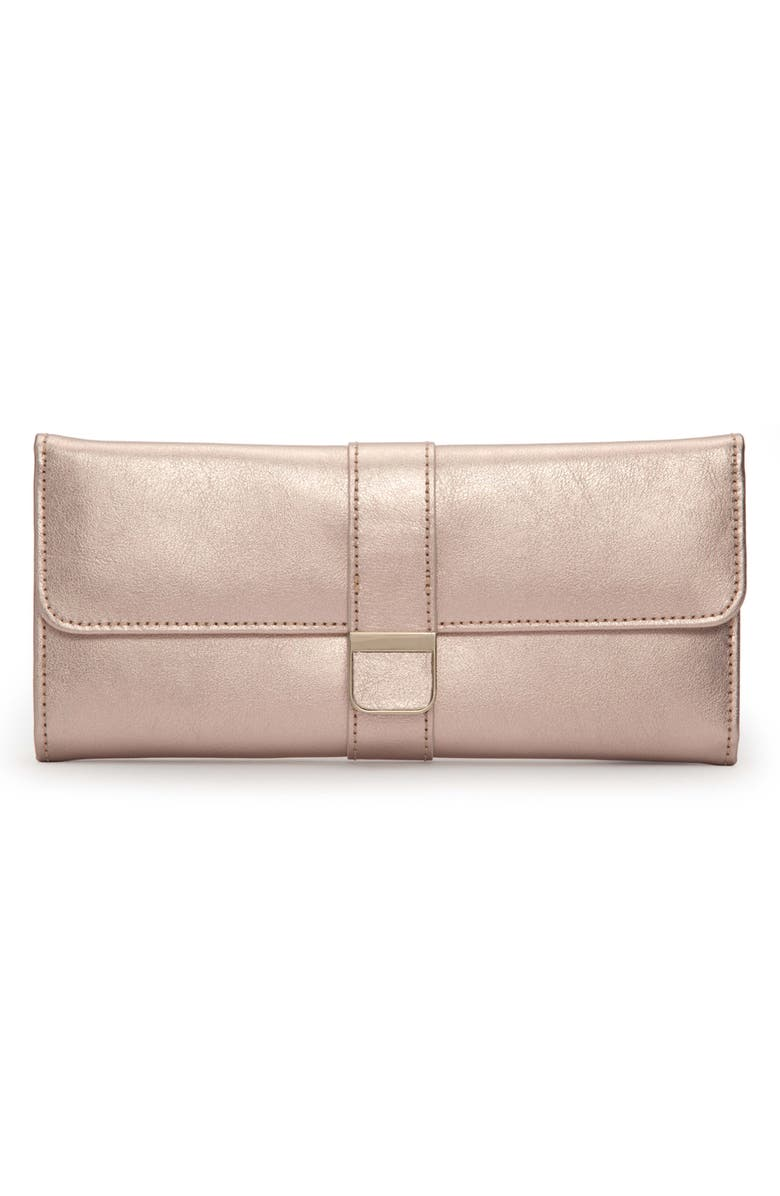 WOLF Palermo Jewelry Roll, Main, color, ROSE GOLD