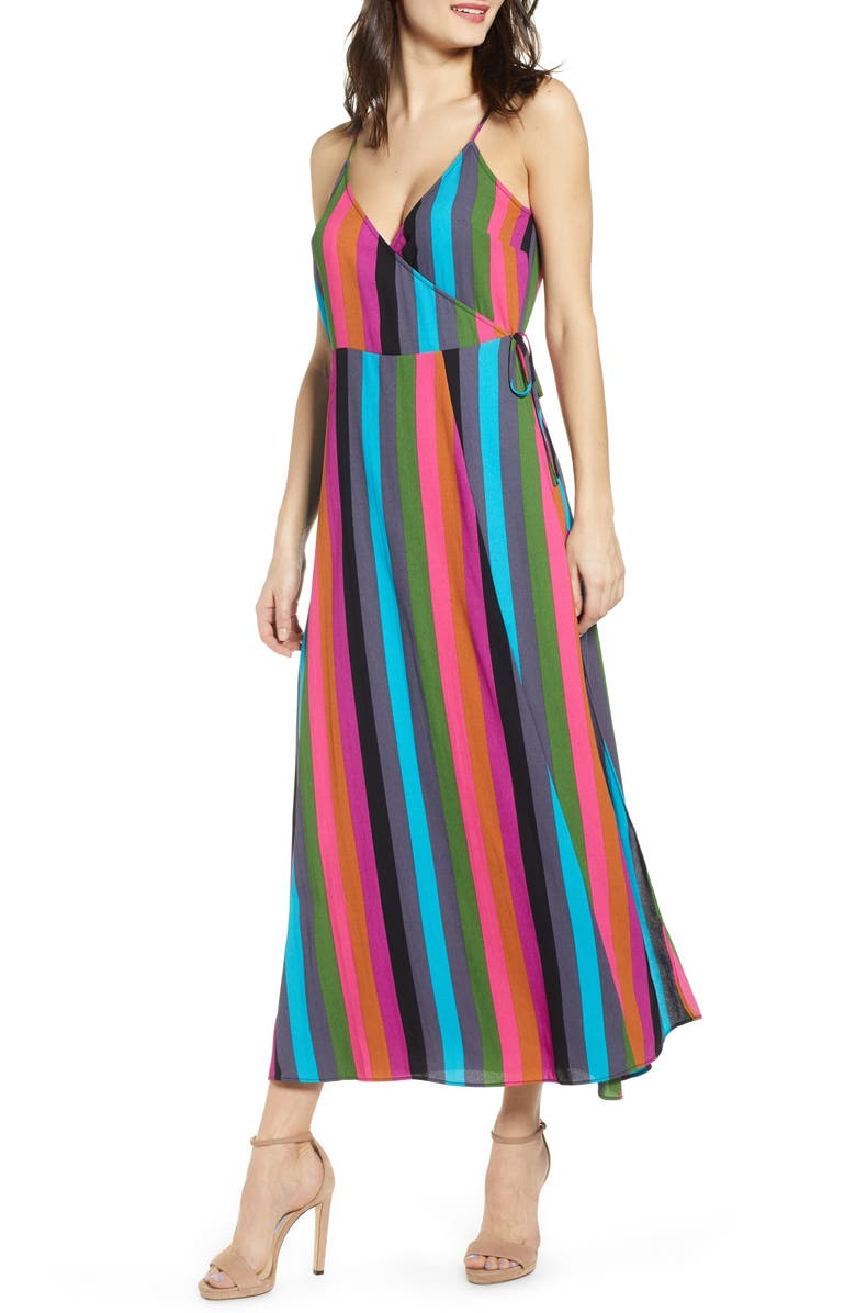 LEITH Maxi Wrap Dress, Main, color, 420