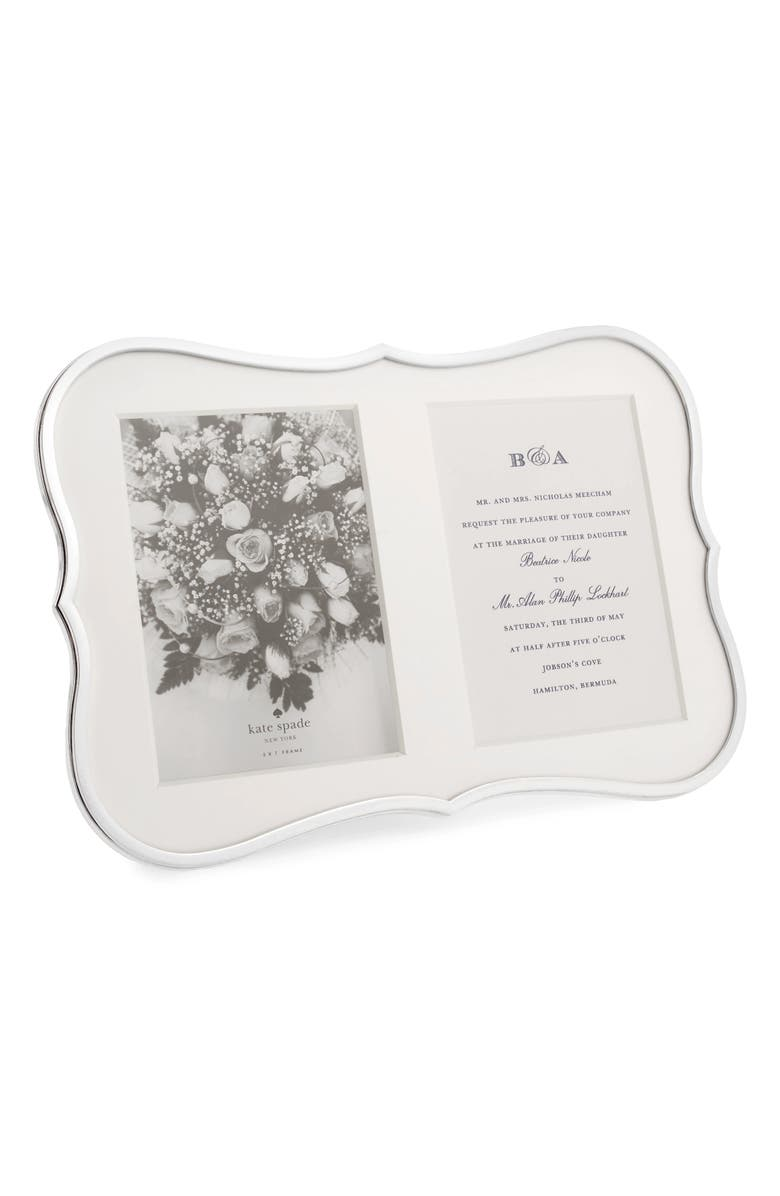 KATE SPADE NEW YORK 'crown point' double invitation frame, Main, color, NO COLOR