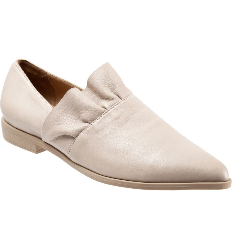BUENO Burcu Flat, Main, color, LIGHT GREY LEATHER