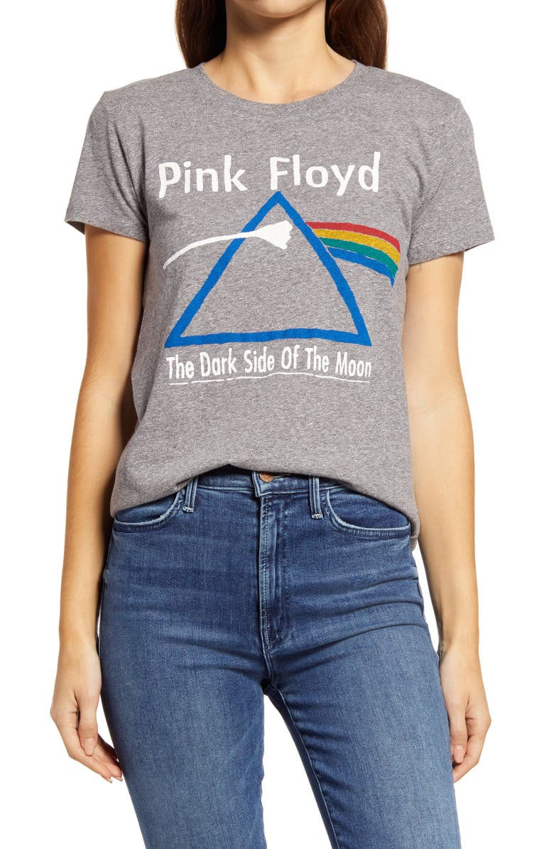LUCKY BRAND Pink Floyd 'Dark Side of the Moon' Graphic Tee, Main, color, HEATHER GREY