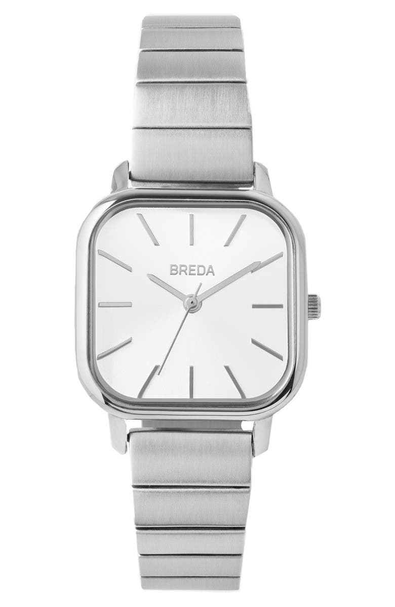 BREDA Esther Bracelet Watch, 26mm, Main, color, SILVER/ SILVER/ IVORY