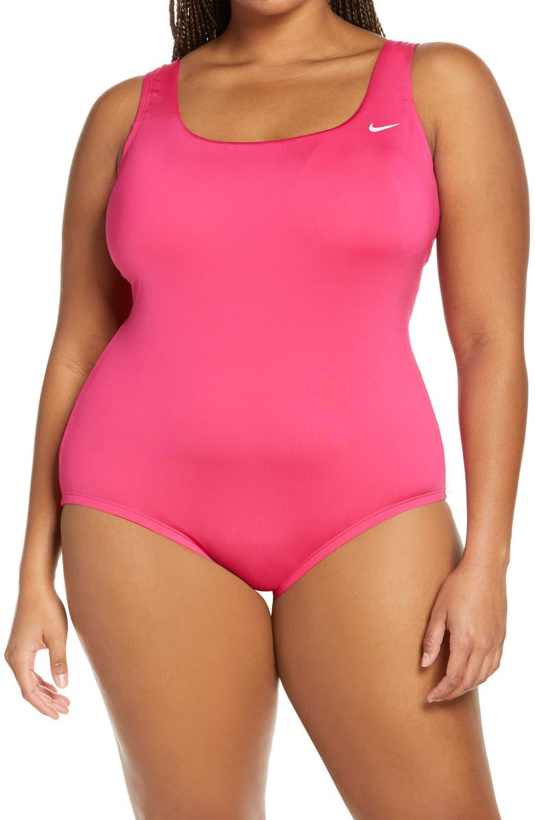 NIKE Essential U-Back One-Piece Swimsuit, Main, color, FIREBERRY