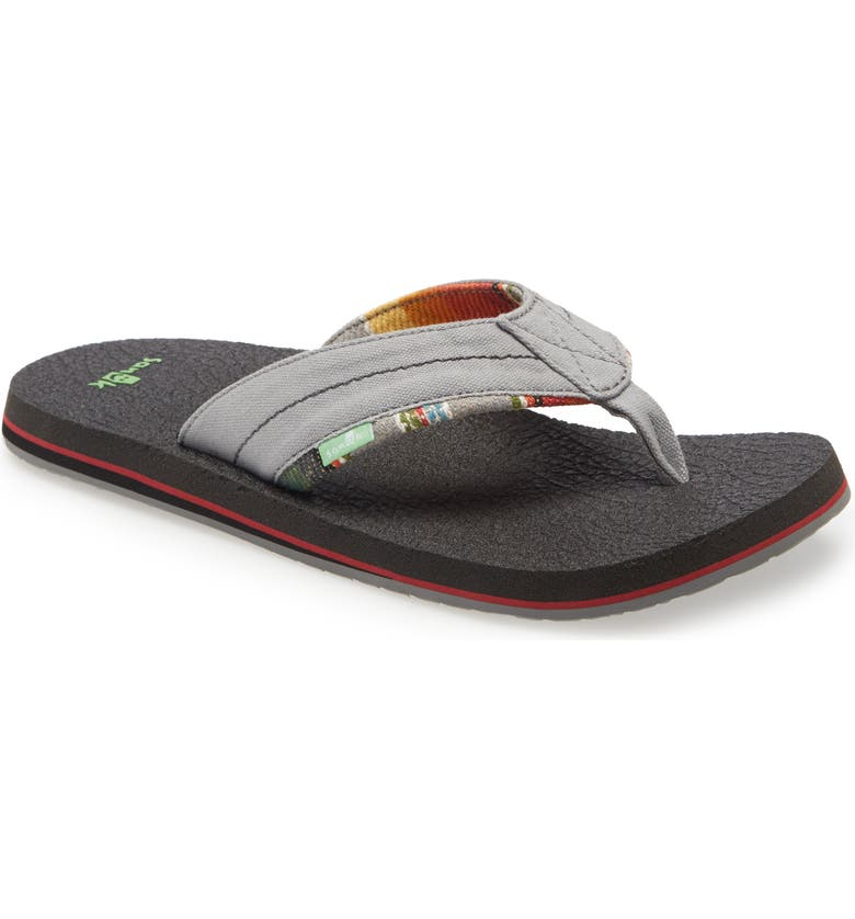 SANUK Bear Cozy TX Flip Flop, Main, color, GREY/ BLANKET