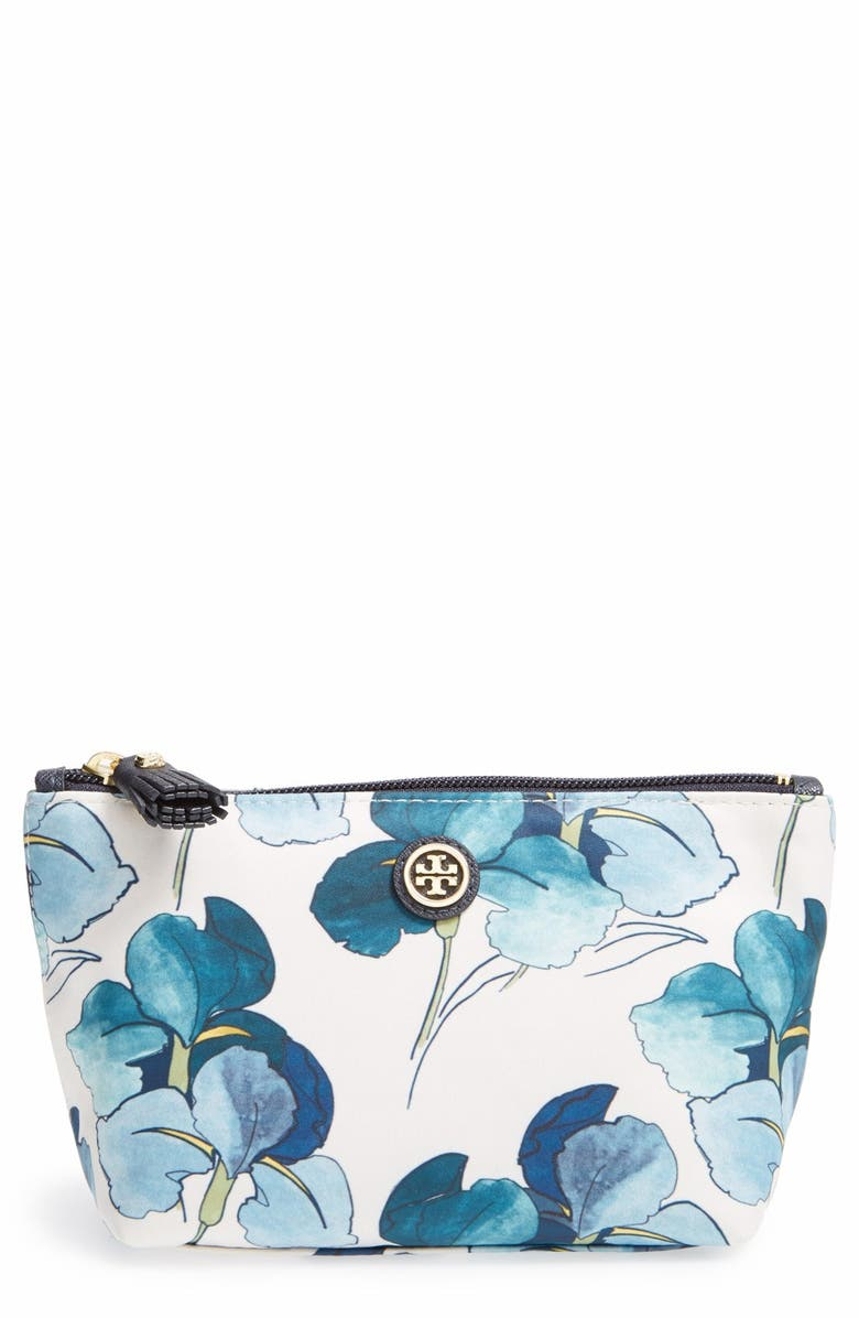 TORY BURCH Trapeze Cosmetics Case, Main, color, PERSICA PLACED