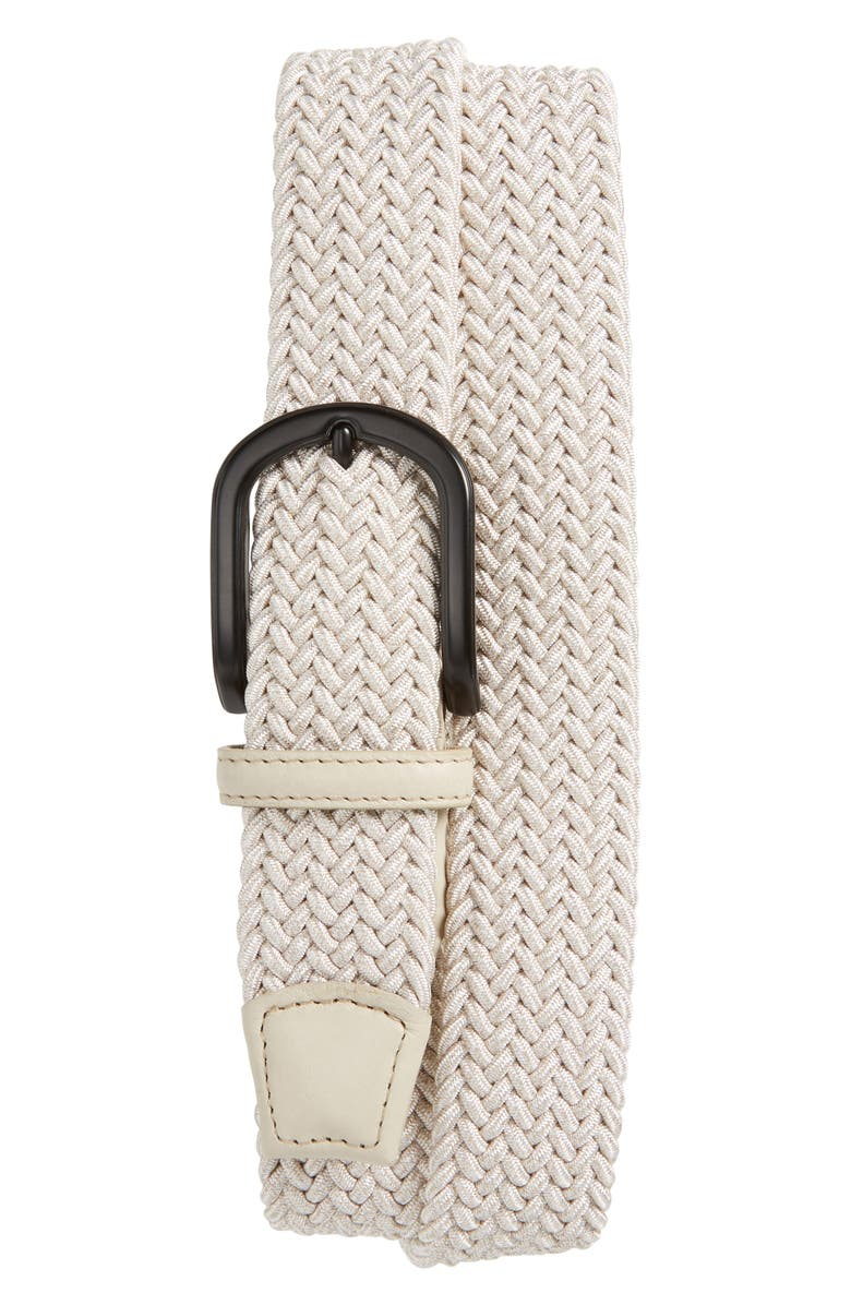 TORINO Braided Mélange Belt, Main, color, CREAM