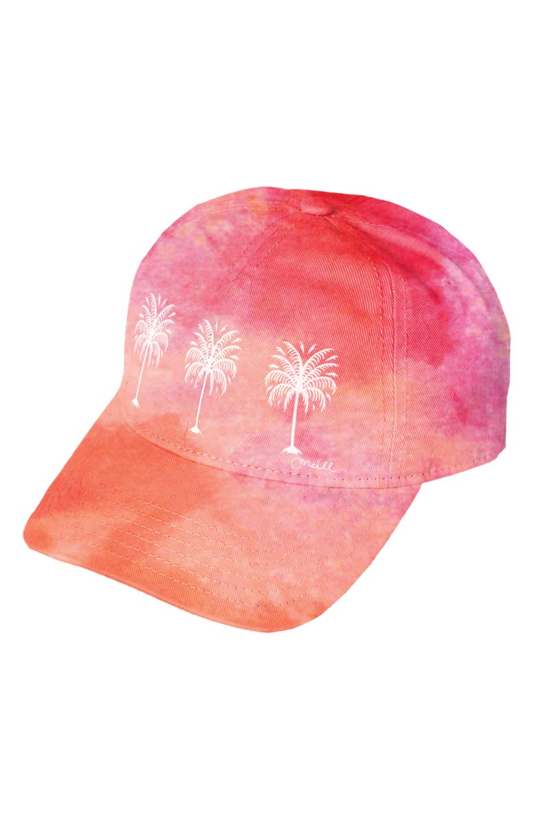 O'NEILL Drop In Tie Dye Baseball Cap, Main, color, RED CLAY