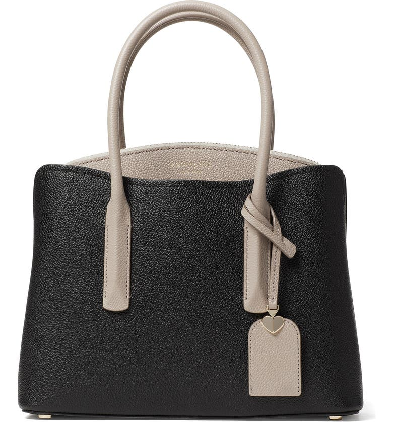 KATE SPADE NEW YORK medium margaux leather satchel, Main, color, 005