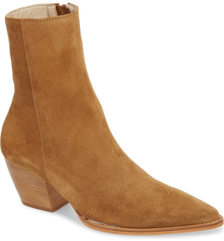 MATISSE Caty Western Pointed Toe Bootie, Main, color, FAWN SUEDE