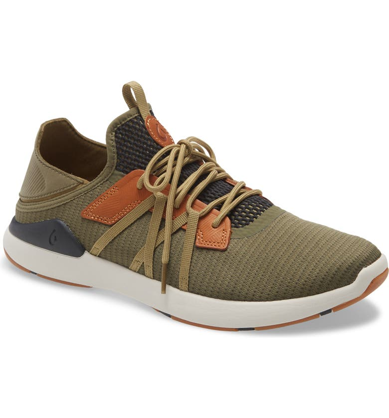 OLUKAI Mio Li Sneaker, Main, color, HUNTER/ LAVA ROCK FABRIC
