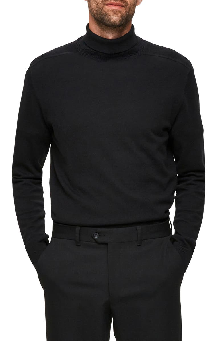 SELECTED HOMME Berg Roll Neck Sweater, Main, color, 001