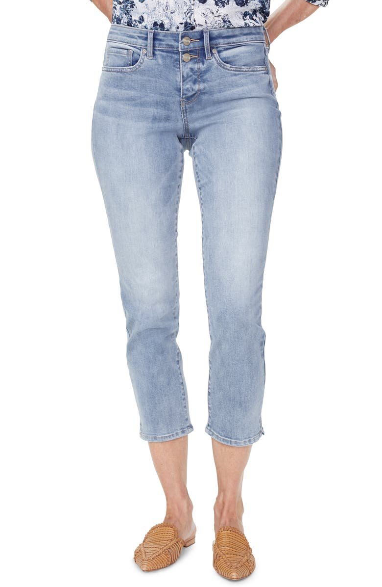 NYDJ Sheri Mock Fly Stretch Ankle Jeans, Main, color, BISCAYNE
