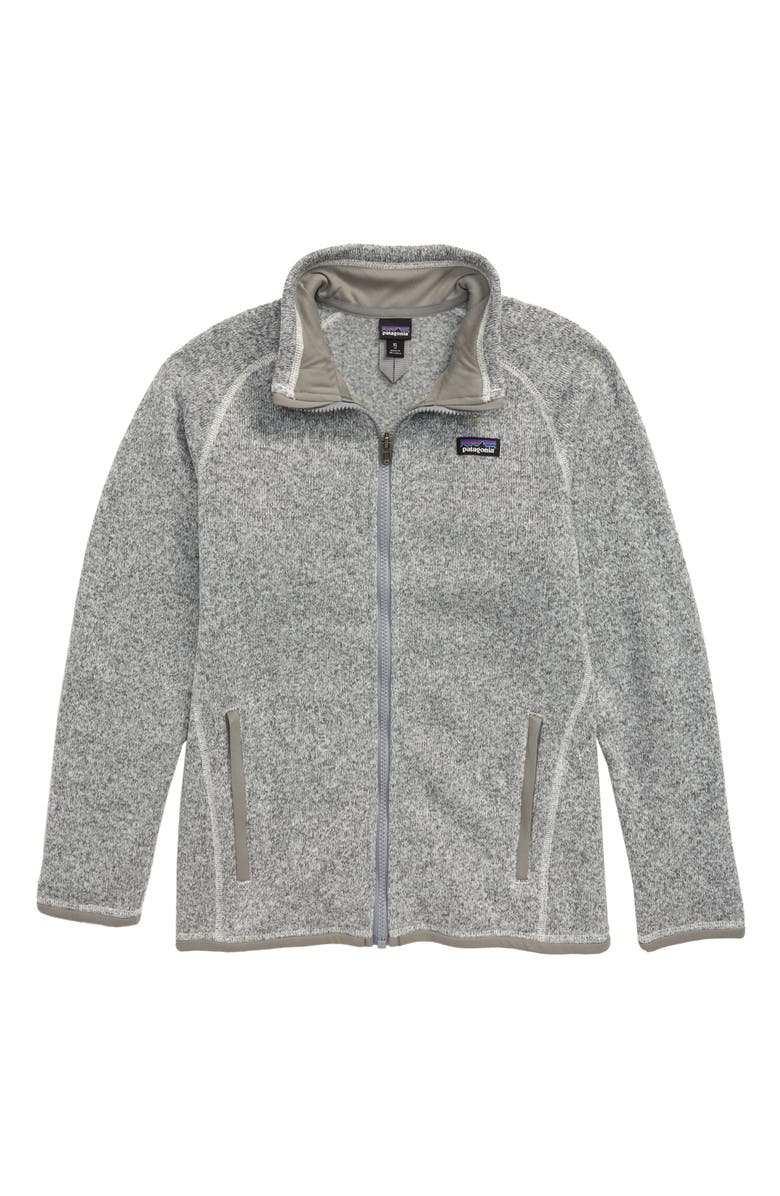 PATAGONIA Better Sweater Jacket, Main, color, BCW BIRCH WHITE