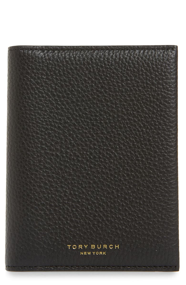 TORY BURCH Perry Leather Passport Holder, Main, color, 001