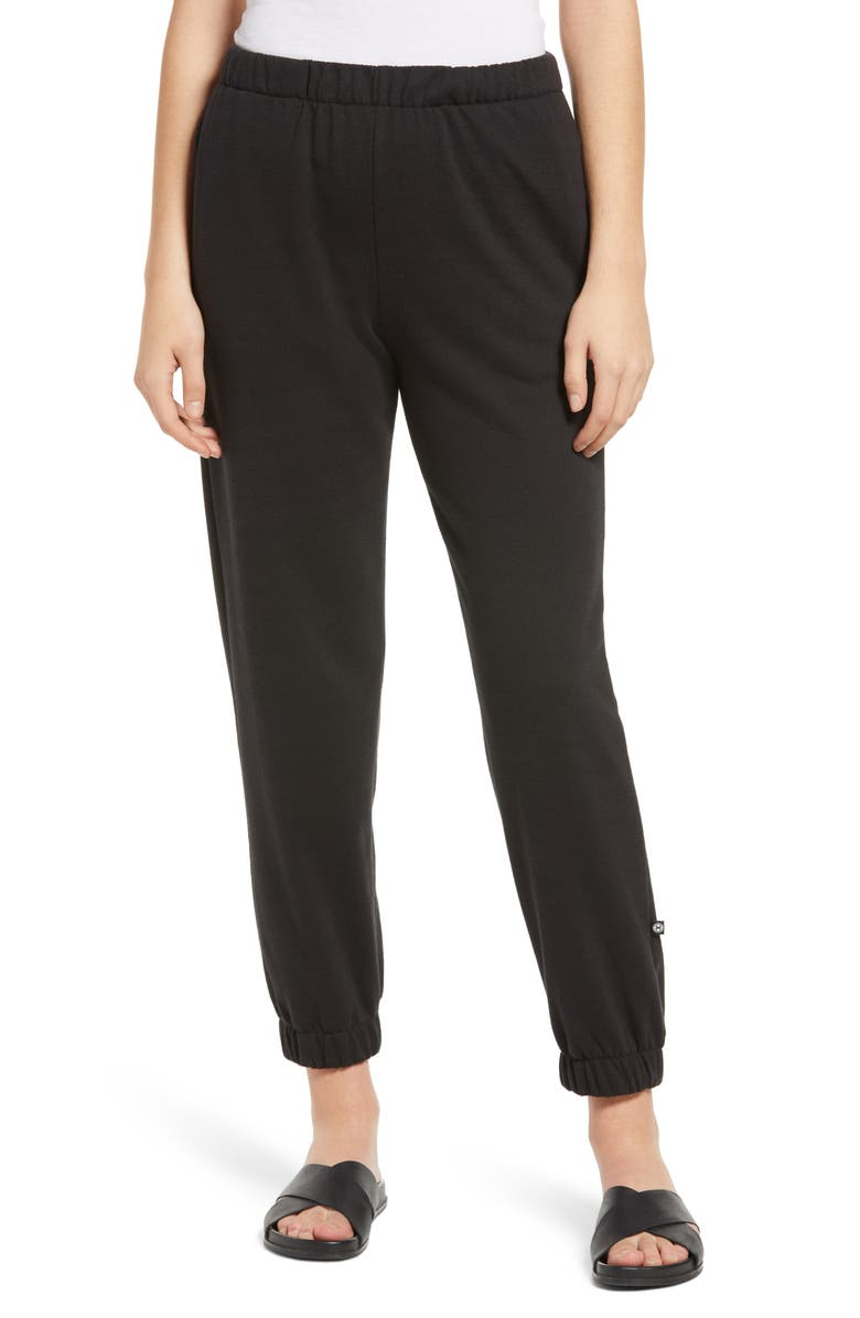 CIRCLE X Cozy Jogger Sweatpants, Main, color, BLACK
